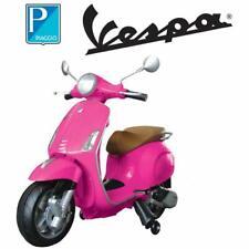 Vespa per bambini elettrica Piaggio rosa 12V scooter elettrico MP3 USB rotelle