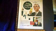 Rare Orig VTG 1949 Blatz Beer Hank Marino Bowling Color Advertising Art Print