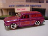 CUSTOM '69 VOLKSWAGEN SQUAREBACK ✿Purple VW;REAL RIDERS✿LOOSE✿Hot wheels Garage