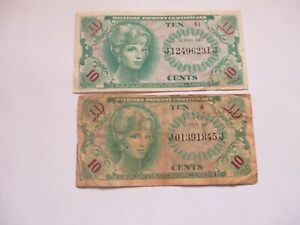 1965 US MPC Series 641 10 cents (2) notes