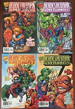 Heroes Reborn: The Return #1-4 - Comic Books Signed By Peter David - Marvel