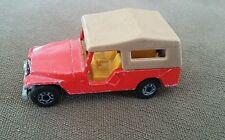 Vintage Matchbox Superfast 1977 No. 53  00004000 Cj8 Red Jeep