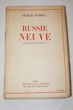RUSSIE NEUVE VOYAGE EN URSSE CHARLES VILDRAC 1937 LENINGRAD KOLKHOZ SIGNACH