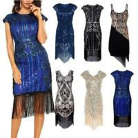 Women's 1920s Dress Great Gatsby Sequin Costume 20s Party Cocktail dress S4E2