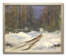 MAX HELLBERG *1907-1976 / WINTERSCENE - Original Swedish Oil Painting