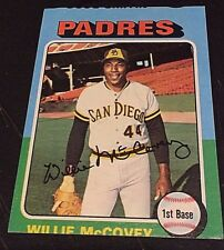 WILLIE McCOVEY 1975 Topps ERROR Miscut OddBaLL Factory Goof Card SP  #450 PADRES