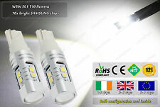 2x LED T10 501 W5W Cree 10W Side Lights Xenon Parking Bulbs HID Lamps Reverse