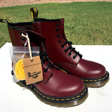 Dr Martens 1460 8-Eye Boots Womens US 8 UK 6 Eur 39 Smooth Maroon Leather NEW