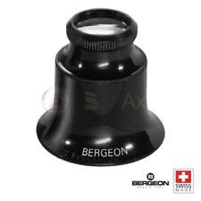 Lente Monocolo doppio ingrandimento 12x in plastica Nera Bergeon Swiss Made