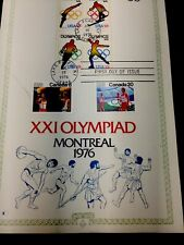 1976 Montreal First Day Of Issue Olympic Stamps. Opening Ceremony