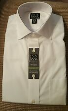NWT JOSEPH A BANKS MEN'S TRAVELER TAILORED FIT COLLECTION sz 15 1/2-34