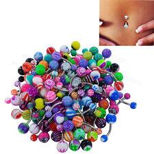 Lot 50x Navel Belly Rings Bars Wholesale Body Piercing Jewellery Body Jewellery