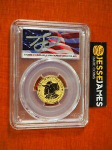 2020 W $10 REVERSE PROOF GOLD MAYFLOWER PCGS PR70 FLAG CLEVELAND FS 1/4 OZ GOLD