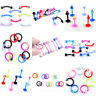 Wholesale Body Piercing Jewellery Eyebrow Navel Belly Tongue Bar Labret Lip Ring
