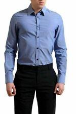 Versace Jeans Men's Blue Long Sleeve Button Down Shirt US S IT 48