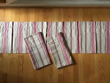 Lot/Set of 3 Jcp Home Valances - Red & Tan