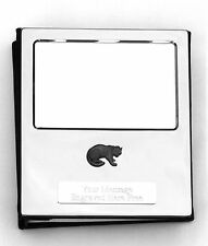 More details for leopard design silver personalised photo album free engraving 100 photos 218
