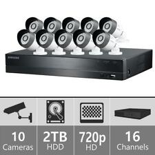 Samsung Techwin 16Ch HD Video 2TB Security DVR System & 10 Cameras - NEW OTHER
