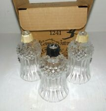 Set Of 3 Paneled & Diamond Pattern Clear Home Interior Votive Cups