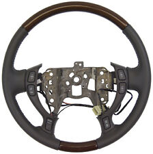 2002-2004 Cadillac DeVille Seville Steering Wheel Dark Gray Leather W/Wood New