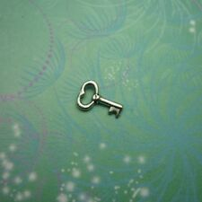 New Adorable Silver Key Charm For Locket Keychain etc