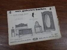 CATALOGUE PUBLICITAIRE vers 1925-1930 GALERIES BARBES MEUBLES LUSTRES