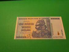 Zimbabwe 100 Trillion Dollars 2008 Banknote UNC Uncirculated AA+