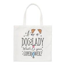 Sono un cane LADY qual è il tuo superpotere Small Tote Bag-Crazy Funny