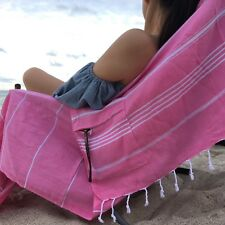 Turkish Cotton Specialized Beach Towel +Face Towel +Tote Bag Travel Set Yoga Gym