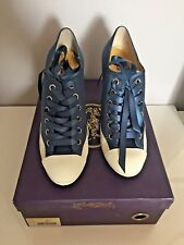Hale Bob Black White Satin Saddle Shoes Heels White Rubber Toe and Soles 7