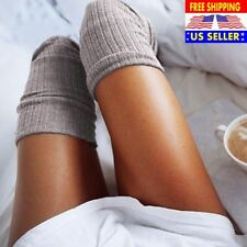 Women Ladies Over The Knee Socks Thigh High Long Stockings Cotton Warm Khaki HOT