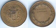 Médaille de table - SAINT BRIEUC 1881 exposition artistique par BESCHER corne