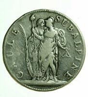 pci0457) Repubblica Subalpina (1800-1802) 5 Franchi AN 10 Mont 10