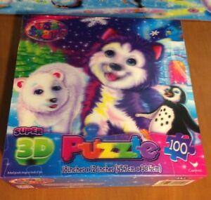 Lisa Frank Super 3D 100 Piece Puzzle
