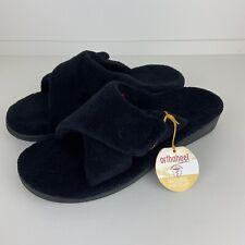 Orthaheel Relax Slipper House Shoes Black 11 NWOB Comfort
