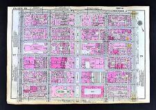 1921 New York City Map - St. Patrick's Cathedral Theatres 5th to 7th Park Avenue