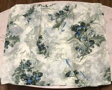 Vintage Bed Skirt and Sham Twin Size Green Floral Muslin New