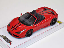 1/18 BBR Ferrari 458 Speciale A Rosso Corsa P18102R Lim 248 pcs alcantara base