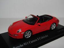 MINICHAMPS PORSCHE 911 CARRERA S CABRIOLET 2005 RED 1/43