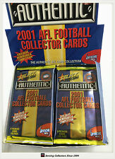 2001 Select AFL Authentic Trading Cards Sealed Loose Packs Unit of 4--packs