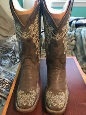 c75a59d7c Corral Women's Brown Crater Bone Embroidery Western Boots
