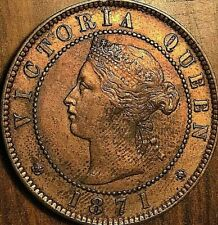 1871 PEI LARGE 1 CENT PENNY COIN - Excellent example!