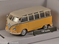 VOLKSWAGEN T1 Samba Bus in Yellow / Cream 1/43 scale model by Cararama