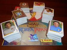 MANCOLISTE FIGURINE ALBUM CALCIATORI PANINI MONDIALI KOREA JAPAN 2002 WORLD CUP