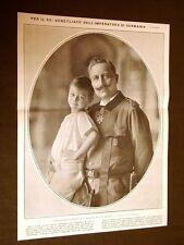 Guglielmo II di Prussia e Germania nel 1911 e nipote maggiore Nei suoi 52 anni