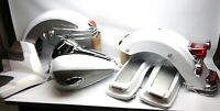 10 HARLEY ULTRA CLASSIC TOURING TIN SET PEWTER PEARL/WHITE TANK FENDERS BAG LIDS