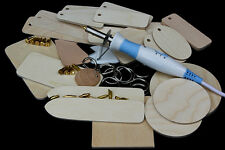 Pyrography Gift Set with Pyromaster 18 tips and £15 of wood blanks 20+