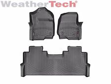 WeatherTech Floor Mats FloorLiner for Ford Super Duty Crew Cab - 2017 - Black