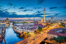 BEAUTIFUL BERLIN CITY CANVAS PICTURE #548 STUNNING LANDSCAPE A1 CANVAS FREE P&P