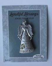 q May angels watch over you BEAUTIFUL BLESSINGS Angel swivel car VISOR CLIP ganz
